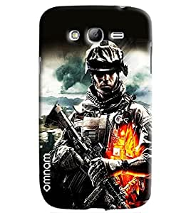 Omnam Army Man In War Printed Designer Back Cover Case For Samsung Galaxy Grand