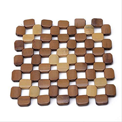 Coaster Kzfs Mesa De Escritorio Alfombrillas Cuadradas Bambú Placemats Resistente Al Calor Hot Pad Posavasos Cocina Lugar Mat lagre