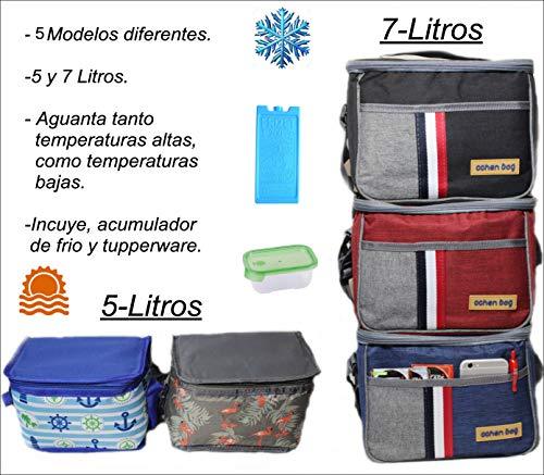 Pack Bolsa hermética ISOTERMICA pequeña + Acumulador de frio + Tupper, dos...
