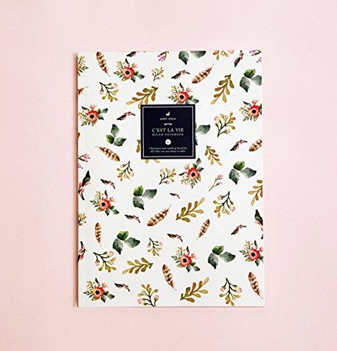Aquarell-Blumen linierte Notizbuch | Romantik • Schreibtagebuch • Notizbuch für Schriftsteller-Geschenk • Tagesplaner • Großes Notizbuch • Das Notizbuch • Zurück zu Schule • Kind-Notizbuch
