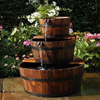 Aqua Moda Solar 800LPH Edinburgh Wooden Barrel Garden Water Feature