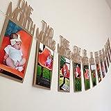 Winkey Kinder Geburtstag Geschenk Dekorationen 1–12Monate Foto Banner Monatliche Foto Wand Home Dekoration