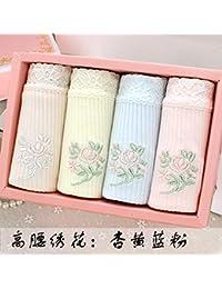 WXNLEAI 4 ropa interior de algodón en caja de regalo cordón de algodón de la cintura