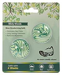 Freshooz Misty Woods Shoe Deodorizing Balls - 1 Pair