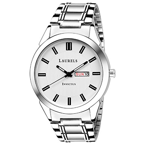 Laurels Lmw-inc-iii-010707 Analog White Dial Men\'s Watch-Lmw-Inc-III-010707