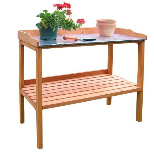 Habau Gartentisch mit verzinkter Arbeitsplatte