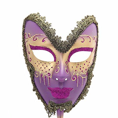 Handheld Lace Maske Weiblich, Lila ()