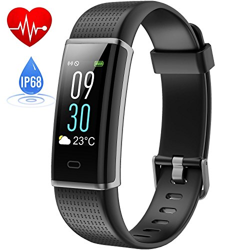 Fitness Tracker, HETP Schrittzähler Fitness Armband mit Pulsmesser IP68 Wasserdicht Pulsmesser Pedometer Smart Fitness Armband Bluetooth Uhr Pulsmesser Armband Smart Alarm mit...