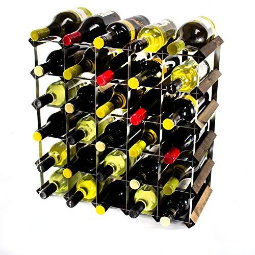 Cranville wine racks Klassische 42Flasche Eiche Dunkel gebeiztem Holz und verzinktem Metall...