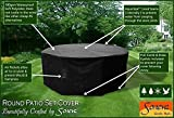 Large Round Patio Garden Table Set Polyester Cover 250 cm, Black, Weatherproof Patio #KC03 #102500 (Black)