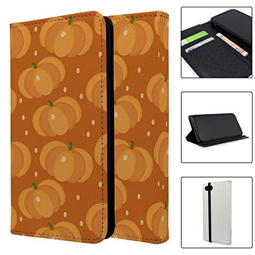 Halloween Kürbis Muster Full Flip Case Schutzhülle für für Apple iPhone 8–S4025