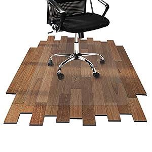 etm® Bodenschutzmatte 116x150 cm Hartboden   extra transparent und rutschfest   optimales Gleitverhalten für Stuhlrollen   weitere Größen mit und ohne Lippe wählbar