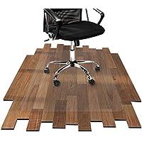 etm Bodenschutzmatte 90x120cm Hartboden | Extra transparent und Rutschfest | optimales Gleitverhalten für Stuhlrollen | Weitere Größen mit und ohne Lippe wählbar