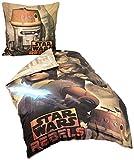 Herding 467266050412 Bettwäsche Star Wars Rebels, Kopfkissenbezug 80 x 80 cm und Bettbezug 135 x 200 cm, 100% Baumwolle, flanell/biber