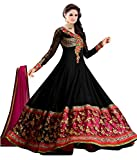 Muta Fashions Women's Georgette Salwar Suit Dress Material (SUIT146_31__Black_Free Size)