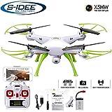 s-idee® 01632 X5HW Quadrocopter Syma Wifi HD Kamera FPV Höhenstabilisierung, Headless Mode VR möglich, Drohne 360° Flip Funktion, 2.4 GHz mit Gyro, 4-Kanal, 6-AXIS System Drone mit Camera 720p