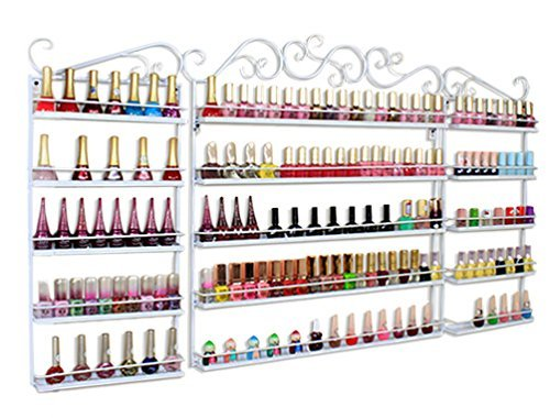 3 in 1 Wand montiert Metall Salon Nail Polish Display Rack ätherischen Ölen Display Aufbewahrung für mehr als 200 Flaschen (China Glaze-farben)