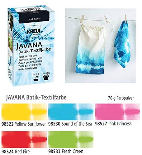 Batikfarben Set, 5 Batik Textilfarben im Set Girls