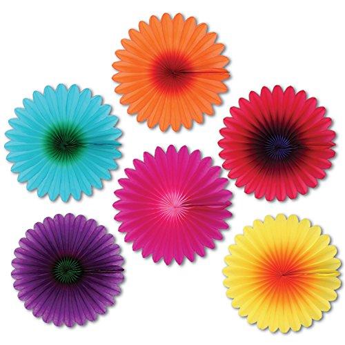 Beistle 50055 6-Pack Mini Blumenlüfter, 6-Zoll