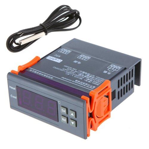 KKmoon Digitaler Temperaturregler, Thermoelement mit Sensor 3 wattsW, 240 voltsV -