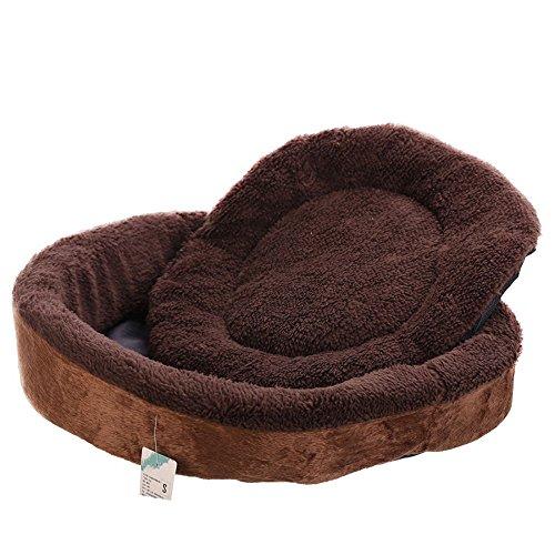 Pet Supplies Détachables Arrondi Waiwo Chien Chat Nest Pet Kennel, Deux Couleurs Sont Disponibles ( Couleur : A , taille : S )