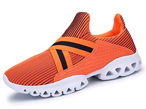 IIIIS-R Herren Damen Unisex Laufschuhe Walkingschuhe Leichtathletikschuhe Fitnessschuhe Orange