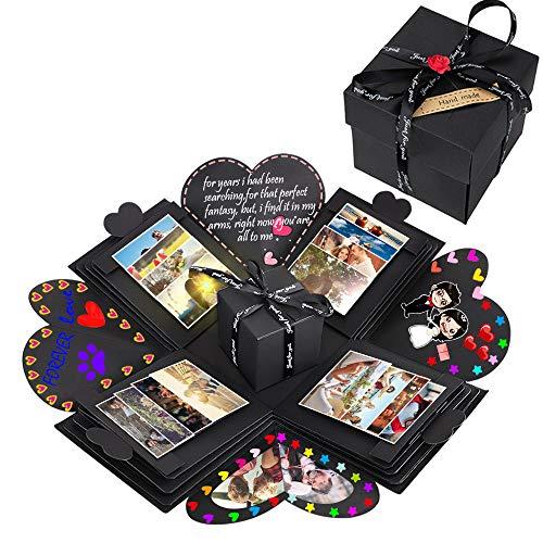 Box, Kreative DIY Faltendes Fotoalbum Handgemachtes Scrapbook Geschenk Explosion Box für Geburtstag, Christmas, Jahrestag, Valentinstag, Heiratsantrag, Hochzeit, Muttertag ()