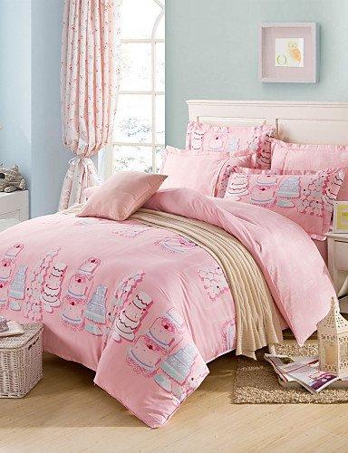 Baumwolle Königin Futon Cover (ZHUAN GAOHAIFQ®, vierteilige Anzug, 100% Baumwolle Königin Bettbezug setzt Comfortble, Queen)