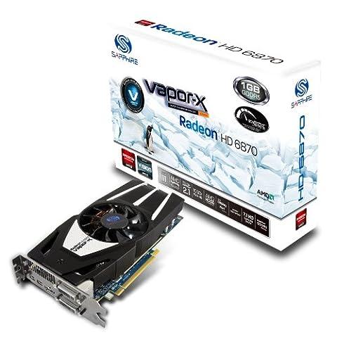 Sapphire HD6870 Vapor-X Grafikkarte (PCI-e, 1GB GDDR5 Speicher, HDMI, 1 GPU) (Hd 6870)