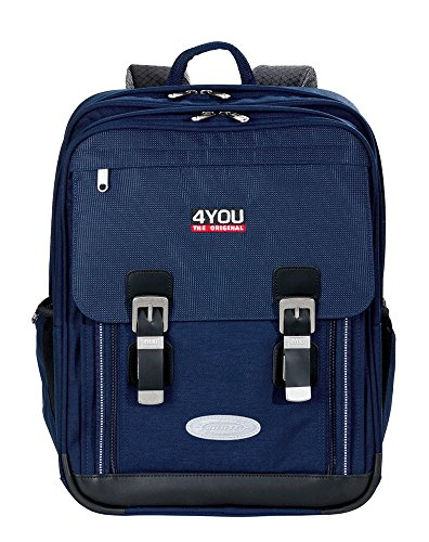 4YOU Schulrucksack Classic Plus Relfexx Blau (Navy) 11430163400