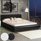 MIADOMODO Kunstlederbett Doppelbett Polsterbett Ehebett Bett mit integriertem Lattenrost in zwei Größen