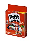 Pritt Stick Glue Solid Washable Non-Toxic Large 43G Ref 1456072 [Pack Of 5] by Pritt