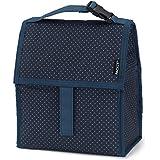 PackIt Micro Dots - Bolsa porta-alimentos para el almuerzo, diseño de topos, 13 x 22 x 25 cm, color azul