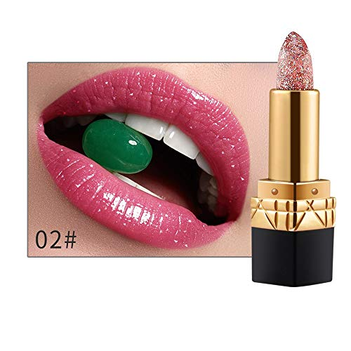 Dtuta Lippenstifte, Frau Wasserdicht Lipgloss Diamant Farbe, Perlige Bonbonfarbe...