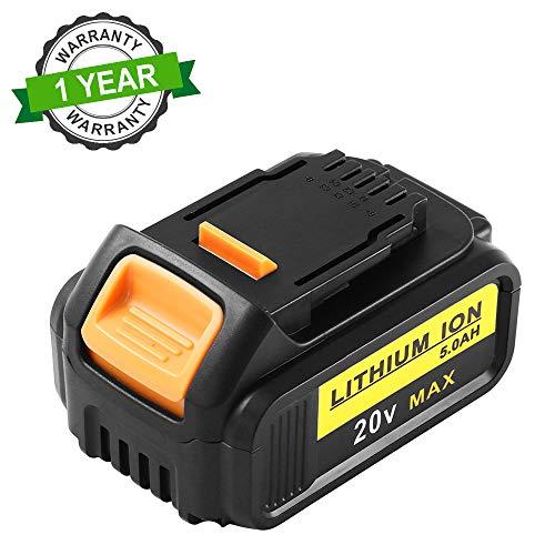 Topbatt 20V 5.0Ah Lítio-Ion para Dewalt Batería de Repuesto DCB184 DCB200 DCB182 DCB180 DCB181 DCB182...