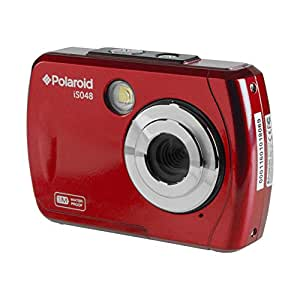 """Underwater Waterproof Instant Sharing Digital Camera Polaroid is048 - 16MP Waterproof up to 10 feet - 2.4"""" Screen (Red)"""