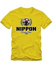 Shirt Happenz Fútbol Japon V2 Camiseta | Hombre | Fútbol | Jersey | Samurai Blue |