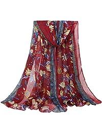 JUNGEN Bufanda de impresión de señoras Bufanda Caliente de Larga Chal de Hilo de Grande Toalla