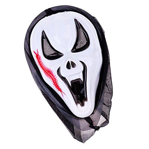 oween Maske Geist Maske mit Haube - Farbe 3 (Familie Haloween Kostüme)