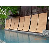 TCLPVC Economy 3/5ft Bamboo Roll Up Blind Chick Window Curtains/Protective Screens for Balcony/Windows/Outdoors/Door…