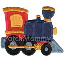 PatchMommy Parche Bordado Tren Parche Termoadhesivo - Parches y Apliques Infantiles