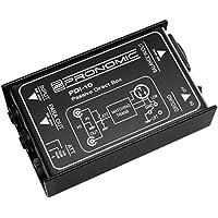 Pronomic PDI-10 passive DI-Box (unsymmetrisch - symmetrisch, Klinke - XLR, Signalanpassung, Ground-Lift-Schalter, Eingangsimpedanz: 50 kO unsymmetrisch, Ausgangsimpedanz: 600 O symmetrisch)