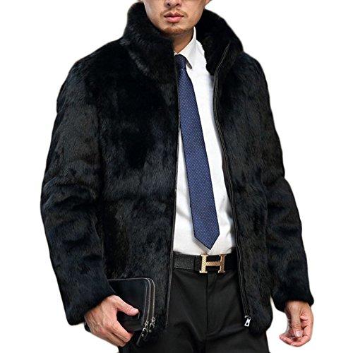 Manteau Homme Col de Fourrure Nouveau Haute qualité Manteau Homme Noir