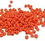Rocailles A144 Perles de Verre Opaque 4 mm Orange 5000stk 6/0 Mat Perles de Perles Indienne pour Bijoux Bricolage Chaînette de Bricolage Bracelet de Loisirs