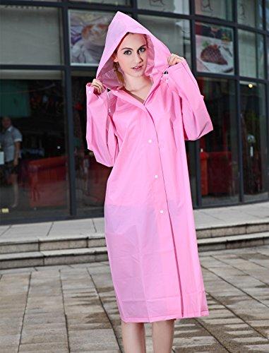 Mefine - Manteau de Pluie Imperméable à Capuche Femme Cape de Pluie L XL Une variété de couleurs Rose
