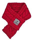 D&C Pet Couture Bella Kabel Knit Schal fur Hund und Katze, Haustier Zubehör, Candy Apple Rot, Mittel