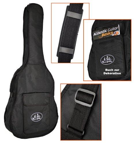 3 mm gepolsterte Gitarrentasche Gigbag für Akustik Klassik Konzert Gitarre und Westerngitarre