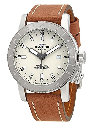 GLYCINE AIRMAN – Orologio da polso da uomo, 24 Hours World Timer GMT Data Analogico Automatico 3947.111 – 66. lb7bh