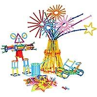 Zooawa Barras de Puzzle, Construcción educativa creativa Bloques de construcción de bloques de juguete con diferentes formas y colores, [800 Pcs] Regalos de Artesanía para 3+ Niños,Colorido