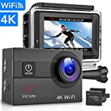 Victure Sports Camera 4K Ultra HD WI-FI 16 MP with Remote Control Camera Camcorder Waterproof 30 m...